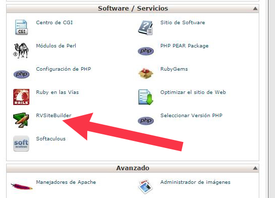 RV-SiteBuilder-cpanel