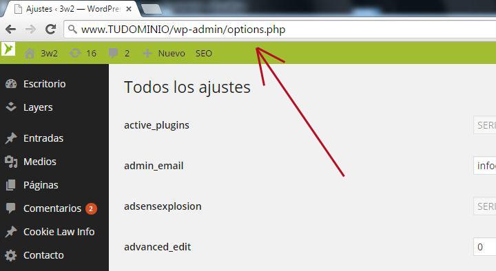 acceder-admin-opciones-wp