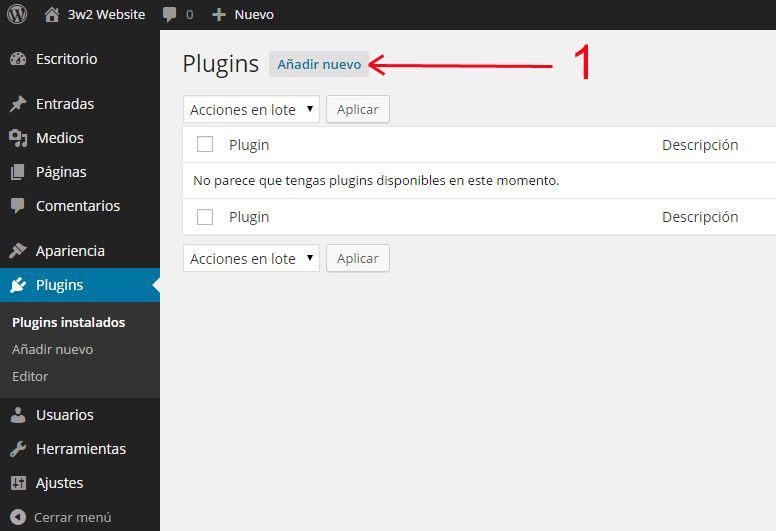 instalar-plugin-mantenimiento-wp