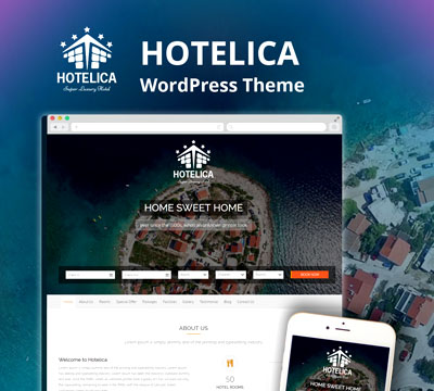 Hotelica - Tema WordPress para hotel - 3w2