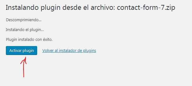 activar-plugin-wordpress-formulario