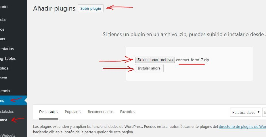 instalar-plugin-wordpress-formulario